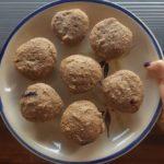 Muffins de frutos rojos y banana