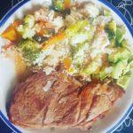 Bife con Verduras y Palta