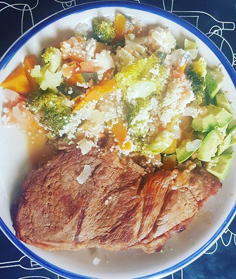 Bife Verduras Palta